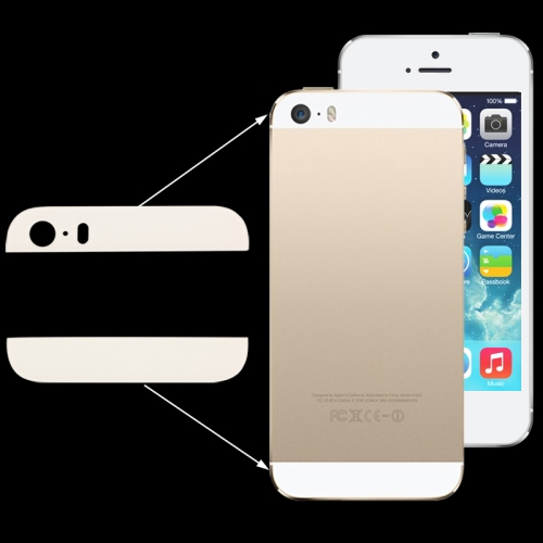 2 in 1 for iPhone 5S Ultra Slim Original (Top + Button) Glass Spare Parts(White)