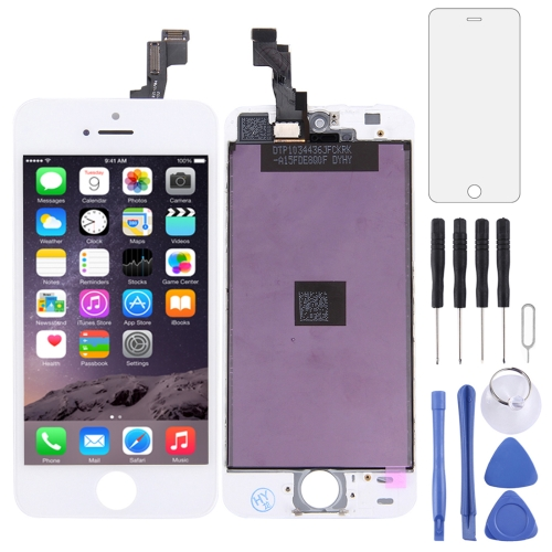 LCD Screen and Digitizer Full Assembly for iPhone 5S (White)