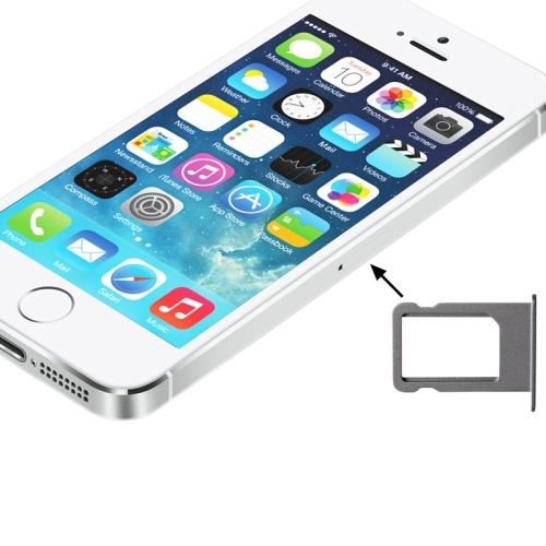 Original Sim Card Tray Holder for iPhone 5S (Silver)