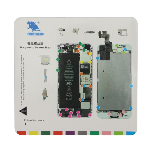 Magnetic Screws Mat for iPhone 5S, Size:20cm x 19cm(White)