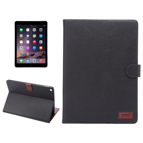 Buy Crazy Horse Texture Leather Case with Holder & Card Slots & Wallet & Sleep / Wake-up Function for iPad Air 2, Black for $4.96 in SUNSKY store