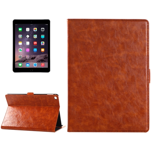 Buy Oil Skin Crazy Horse Texture Leather Case with Holder & Card Slots & Money Pocket for iPad Air 2, Brown for $4.92 in SUNSKY store