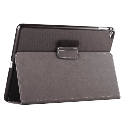 2-fold Cloth Texture Leather Case with Holder and Sleep Function for iPad Air 2, Black