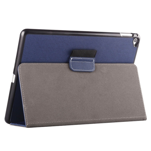 Buy 2-fold Cloth Texture Leather Case with Holder and Sleep Function for iPad Air 2 (Dark Blue) for $4.33 in SUNSKY store