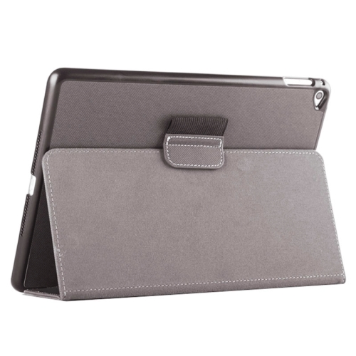 Buy 2-fold Cloth Texture Leather Case with Holder and Sleep Function for iPad Air 2, Grey for $4.33 in SUNSKY store