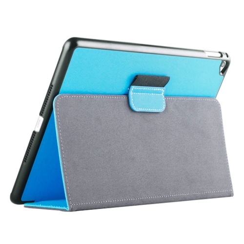 Buy 2-fold Cloth Texture Leather Case with Holder and Sleep Function for iPad Air 2, Blue for $4.33 in SUNSKY store