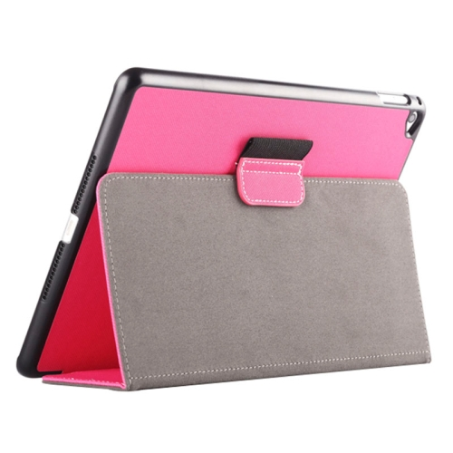 Buy 2-fold Cloth Texture Leather Case with Holder and Sleep Function for iPad Air 2, Magenta for $4.33 in SUNSKY store