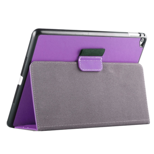 Buy 2-fold Cloth Texture Leather Case with Holder and Sleep Function for iPad Air 2, Purple for $4.33 in SUNSKY store