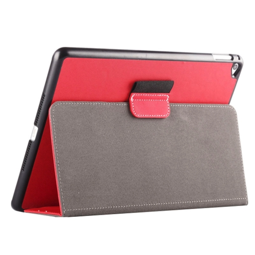 Buy 2-fold Cloth Texture Leather Case with Holder and Sleep Function for iPad Air 2, Red for $4.33 in SUNSKY store