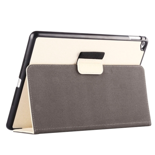 Buy 2-fold Cloth Texture Leather Case with Holder and Sleep Function for iPad Air 2, White for $4.33 in SUNSKY store