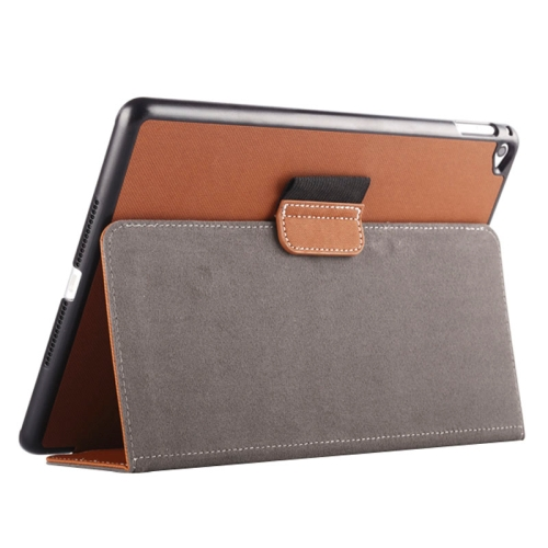Buy 2-fold Cloth Texture Leather Case with Holder and Sleep Function for iPad Air 2, Brown for $4.33 in SUNSKY store