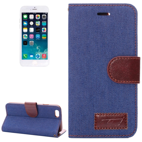 Buy Denim Texture Horizontal Flip Leather Case with Card Slots & Holder for iPhone 6 & 6S (Dark Blue) for $2.07 in SUNSKY store