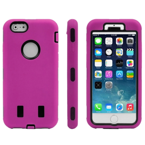 Buy Silicone + Plastic Combination Case for iPhone 6 & 6S, Magenta for $1.53 in SUNSKY store