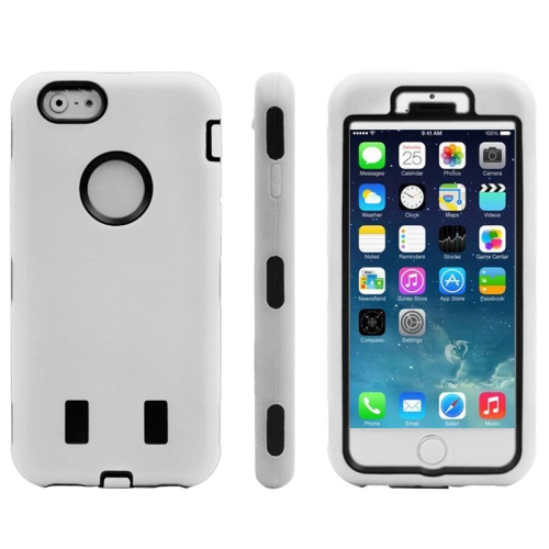 Buy Silicone + Plastic Combination Case for iPhone 6 & 6S, White for $1.57 in SUNSKY store