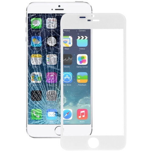 Front Screen Outer Glass Lens for iPhone 6(White)