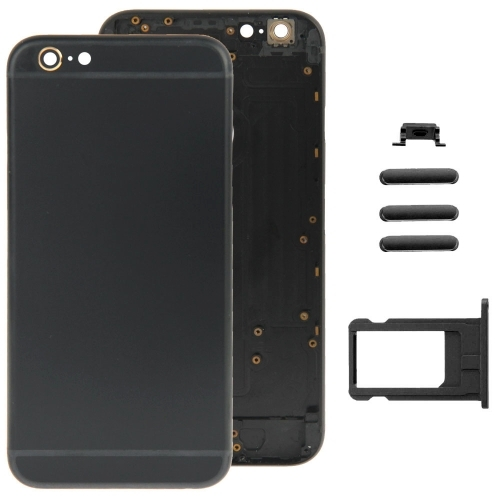 Buy iPartsBuy Full Assembly Replacement Housing Cover for iPhone 6, Including Back Cover & Card Tray & Volume Control Key & Power Button & Mute Switch Vibrator Key, Black for $18.75 in SUNSKY store