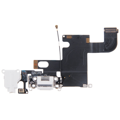 Charging Port Dock Connector Flex Cable Replacement for iPhone 6(White)