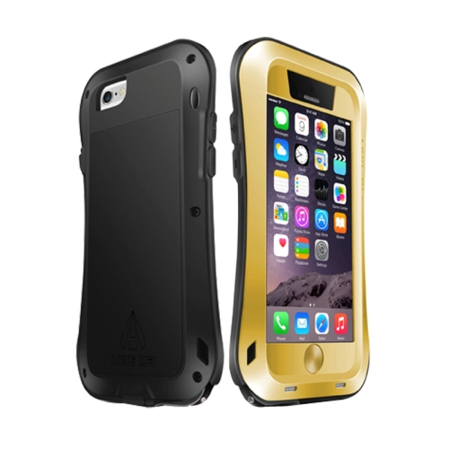 Buy LOVE MEI for iPhone 6 Metal Ultra-thin Waterproof Dustproof Shockproof Small Waist Upgrade Version Protective Case, Gold for $16.95 in SUNSKY store