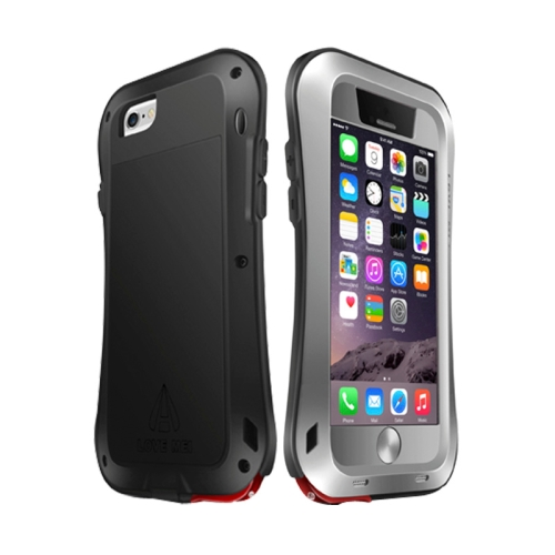 LOVE MEI for iPhone 6 Metal Ultra-thin Waterproof Dustproof Shockproof Small Waist Upgrade Version Protective Case, Grey