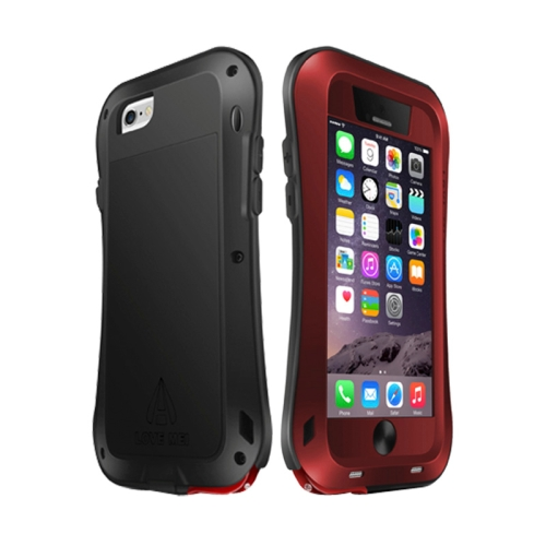 Buy LOVE MEI for iPhone 6 Metal Ultra-thin Waterproof Dustproof Shockproof Small Waist Upgrade Version Protective Case, Red for $17.64 in SUNSKY store