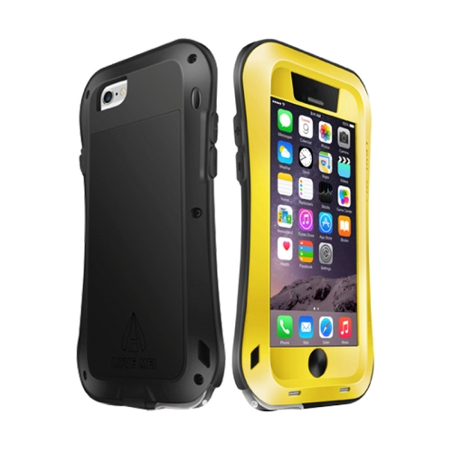 Buy LOVE MEI for iPhone 6 Metal Ultra-thin Waterproof Dustproof Shockproof Small Waist Upgrade Version Protective Case, Yellow for $16.93 in SUNSKY store
