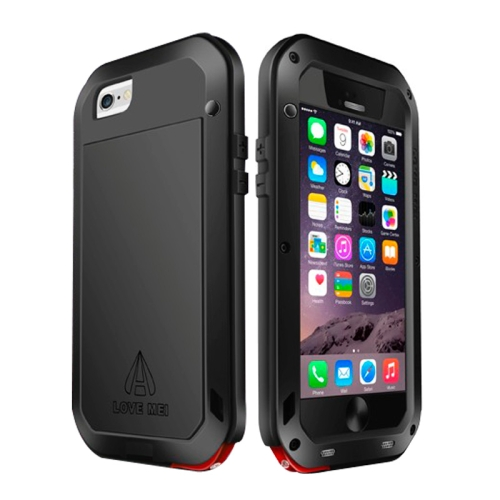 Buy LOVE MEI for iPhone 6 Metal Ultra-thin Waterproof Dustproof Shockproof Powerful Protective Case, Black for $15.48 in SUNSKY store