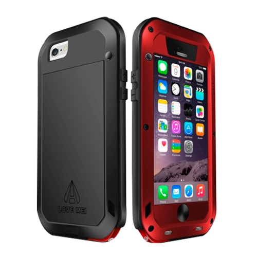 Buy LOVE MEI for iPhone 6 Metal Ultra-thin Waterproof Dustproof Shockproof Powerful Protective Case, Red for $15.48 in SUNSKY store