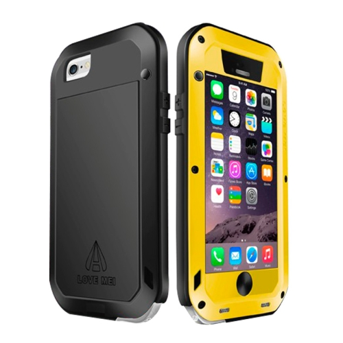 Buy LOVE MEI for iPhone 6 Metal Ultra-thin Waterproof Dustproof Shockproof Powerful Protective Case, Yellow for $15.48 in SUNSKY store
