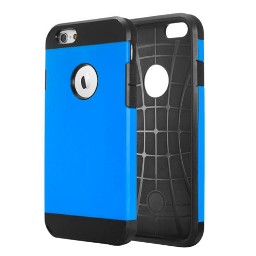 Buy Hybrid PC+TPU Tough Armor Color Hard Case Cover for iPhone 6 (Dark Blue) for $1.19 in SUNSKY store