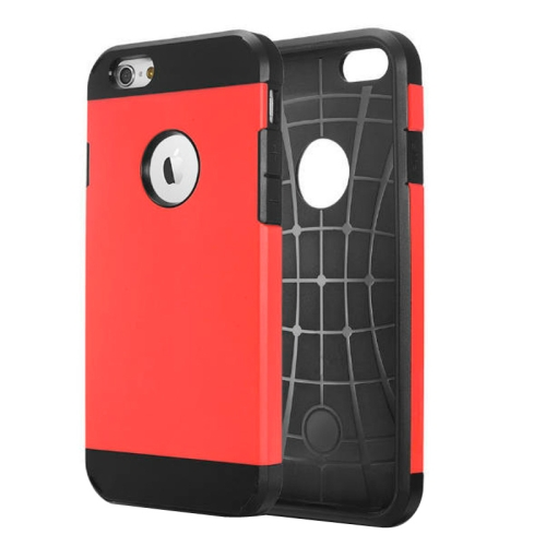 Buy Hybrid PC+TPU Tough Armor Color Hard Case Cover for iPhone 6, Red for $1.14 in SUNSKY store