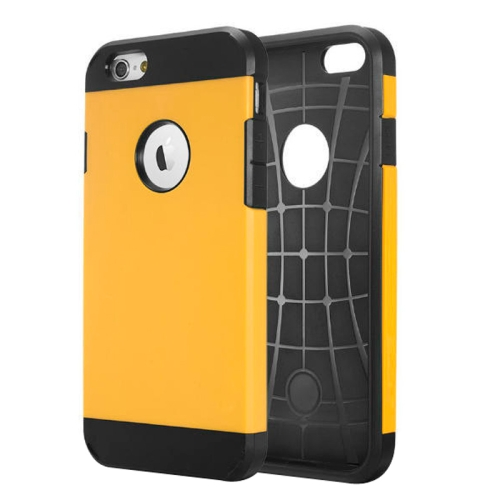 Buy Hybrid PC+TPU Tough Armor Color Hard Case Cover for iPhone 6, Yellow for $1.14 in SUNSKY store