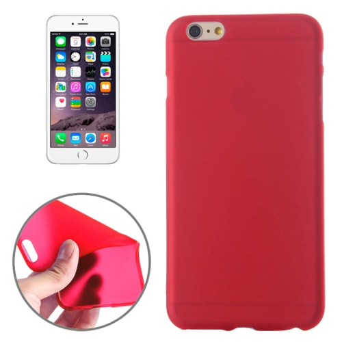 Frosted TPU Case for iPhone 6 & 6S, Red