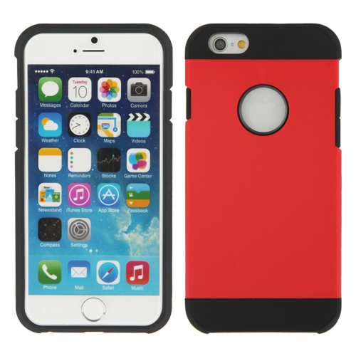 Buy Hybrid PC+TPU Tough Armor Color Hard Case Cover for iPhone 6, Red for $1.47 in SUNSKY store