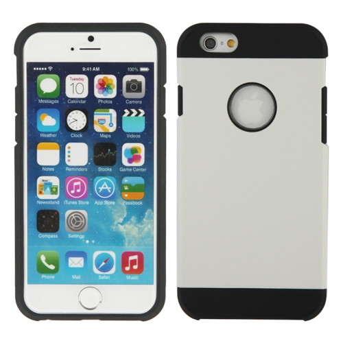 Buy Hybrid PC+TPU Tough Armor Color Hard Case Cover for iPhone 6, White for $1.47 in SUNSKY store