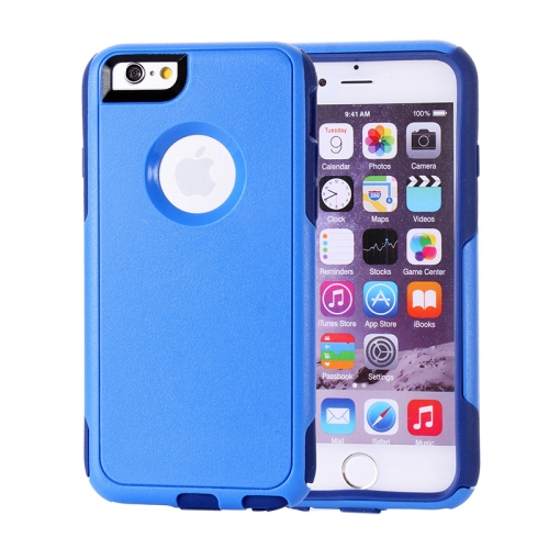 Buy PC + TPU Combination Protective Case for iPhone 6 (Blue+Drak Blue) for $2.06 in SUNSKY store