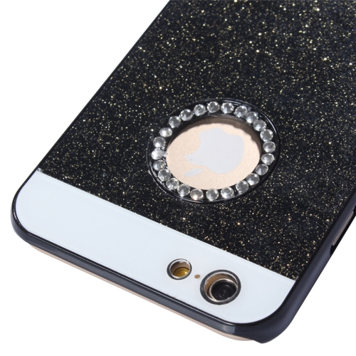 Buy UV Shimmering Powder Diamond-encrusted Protective Hard Case for iPhone 6 & 6S, Black for $1.49 in SUNSKY store