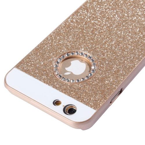 UV Shimmering Powder Diamond-encrusted Protective Hard Case for iPhone 6 & 6S, Gold