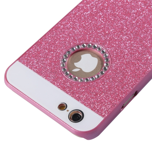 Buy UV Shimmering Powder Diamond-encrusted Protective Hard Case for iPhone 6 & 6S, Magenta for $1.49 in SUNSKY store