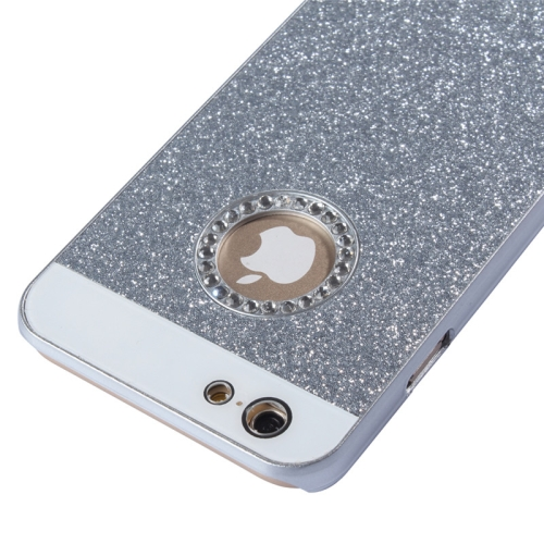 Buy UV Shimmering Powder Diamond-encrusted Protective Hard Case for iPhone 6 & 6S, Silver for $1.49 in SUNSKY store