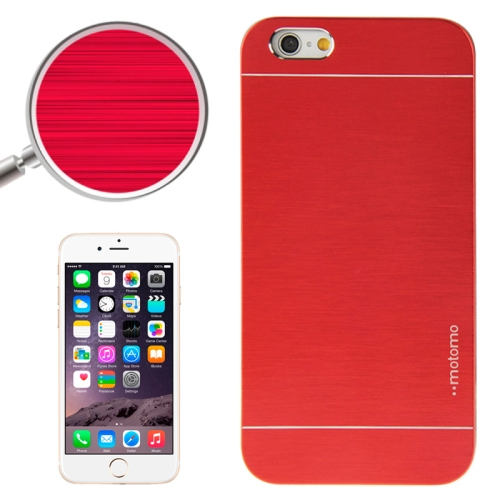 Buy 2 in 1 Brushed Texture Metal & Plastic Protective Case for iPhone 6 & 6S, Red for $1.28 in SUNSKY store