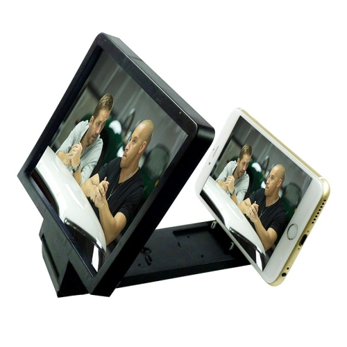 Mobile Phone 3D Video Folding Enlarged Screen Expander Stand, for iPhone, Galaxy, Sony, HTC, Huawei, Xiaomi, Lenovo and other Smartphones(Black)