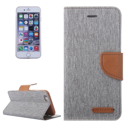 Buy Denim Texture Horizontal Flip Leather Case with Holder & Card Slots & Wallet for iPhone 6 & 6S, Grey for $2.84 in SUNSKY store