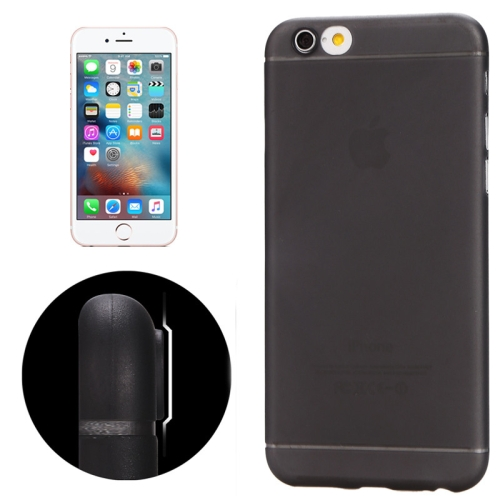 Ultrathin Camera Protection Design Translucence PP Case for iPhone 6 & 6S(Black) фото