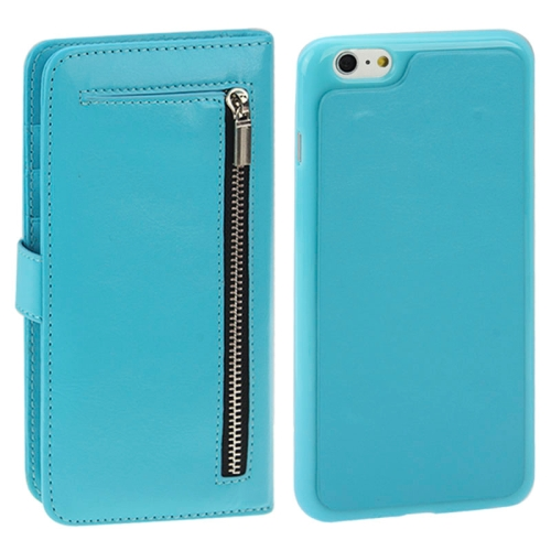 Buy 2 in 1 Separable Crazy Horse Texture Wallet Style Flip Leather Case for iPhone 6 & 6S, Blue for $4.49 in SUNSKY store