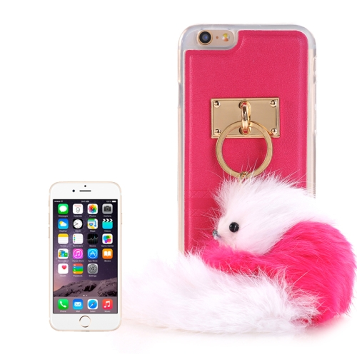 Buy PU Paste Skin TPU Protective Case with Fox Pendant for iPhone 6 & 6s, Magenta for $2.22 in SUNSKY store