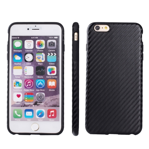 Buy Carbon Fiber Texture TPU Case for iPhone 6 & 6S, Black for $2.58 in SUNSKY store
