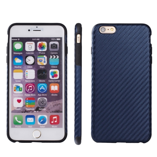 Buy Carbon Fiber Texture TPU Case for iPhone 6 & 6S (Dark Blue) for $2.58 in SUNSKY store