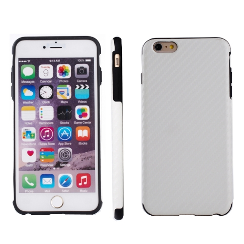 Carbon Fiber Texture TPU Case for iPhone 6 & 6S, White