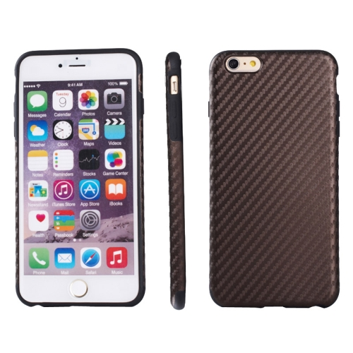 Buy Carbon Fiber Texture TPU Case for iPhone 6 & 6S, Brown for $2.58 in SUNSKY store
