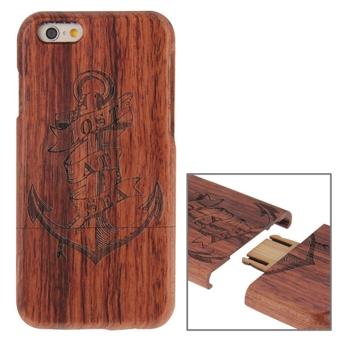 Buy Anchor Pattern Separable Rosewood Wooden Case for iPhone 6 & 6s for $8.27 in SUNSKY store